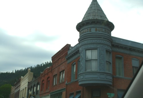 A corner Turret in some Montana Town